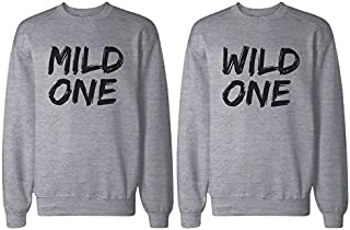 365 In Love BFF Shirts - Mild One and Wild One Matching Grey Sweatshirts for Best Friends