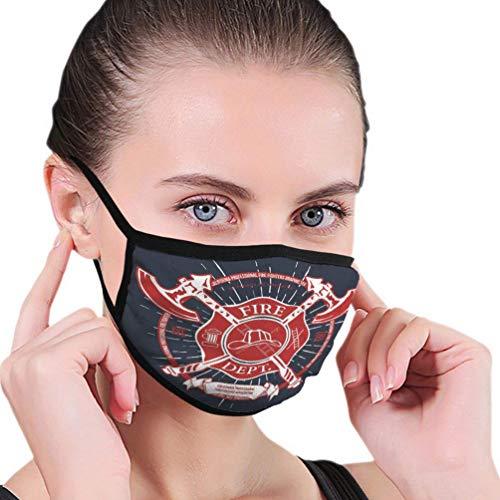 Wiederverwendbare Ski-Radsport-Gesichtsmaske Mundmaske Feuerwehr Label Helmet ed Axes