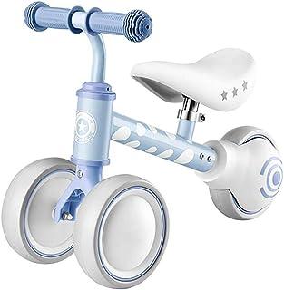 Arkmiido Bicicleta sin Pedales, Bicicleta sin Pedales Ruedas Aire, Regalo de cumpleaños para niñas y niños de 1 a 3 años (Azul)