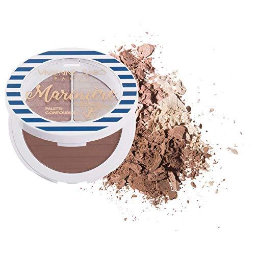 Vivienne Sabo - Face Countouring Palette - Palette Contouring Pour Le Visage - Mariniere 02-3 Farben: Bronzer/Dark Highlighter/Light Highlighter