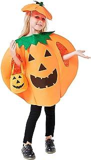 Cozyhoma - Disfraz de Calabaza para Halloween, Unisex, diseño de Calabaza, para Mujer, Hombre, máscara, Fiesta, Cosplay, Monos con Sombrero