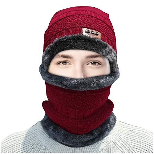 Maximum Bonnet Tricoté Chapeau Hiver, Chapeau D'hivers Unisexe, Chapeau Chaud Bonnet Hiver Tricot Tour De Cou Plus Protection Auditive D'équitation Et Bavoir