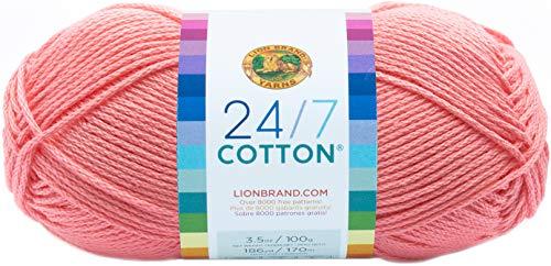 Lion Brand Yarn Company Hilo de 100% algodón, Color Rosa
