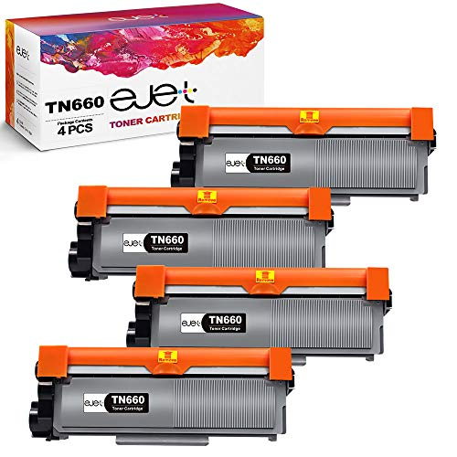 ejet Compatible Toner Cartridge Replacement for Brother TN630 TN660 TN-660 High Yield Work for HL-L2300D DCP-L2520DW DCP-L2540DW HL-L2360DW HL-L2320D HL-L2380DW MFC-L2707DW HL-L2340DW Printer(4 Black)