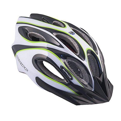 AUTHOR Fahrradhelm Skiff Größe M 52cm-58cm Insektenschutz Dial-Fit weiß grün
