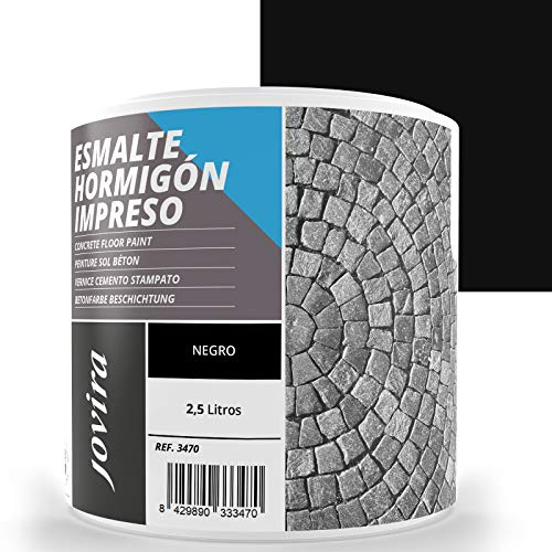ESMALTE HORMIGÓN IMPRESO Resina renovadora para pavimentos de hormigón. (2.5 L, NEGRO)