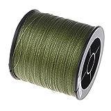 SODIAL (R) - Hilo de pescar, 500m, 13kg, 0,26mm, resistente, polietileno, 4 hilos trenzados, verde