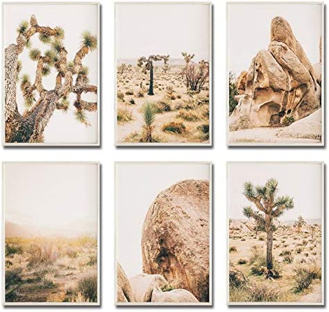 iMagitek Set of 6 Unframed Desert Wall Art Print Joshua Tree Wall Art Southwestern Decor Arizona product image