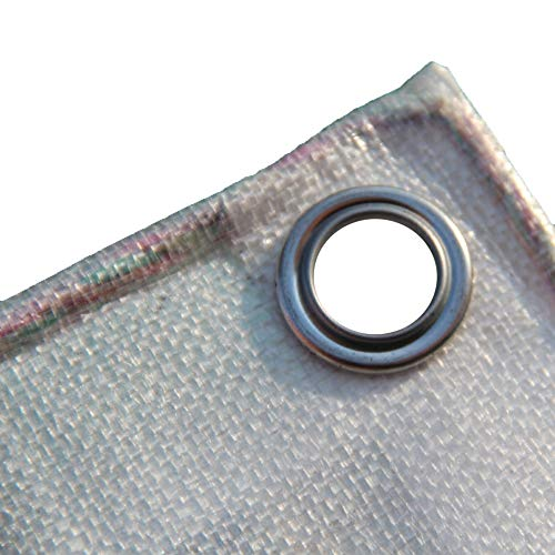 PE tissé à Haute densité résistant de bâche, Tissu en Plastique avec la Tente d'oeillets (Size : 6m×8m)