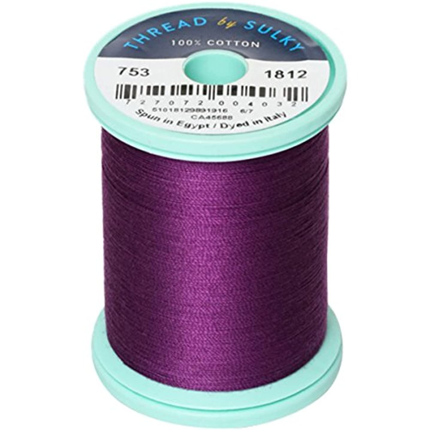 Sulky 753-1812 Cotton and Steel Thread 50wt 660 yds -Wildflower