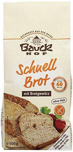 Bauckhof Schnellbrot mit Brotgewürz glutenfrei, 3er Pack (3 x 500 g) - Bio