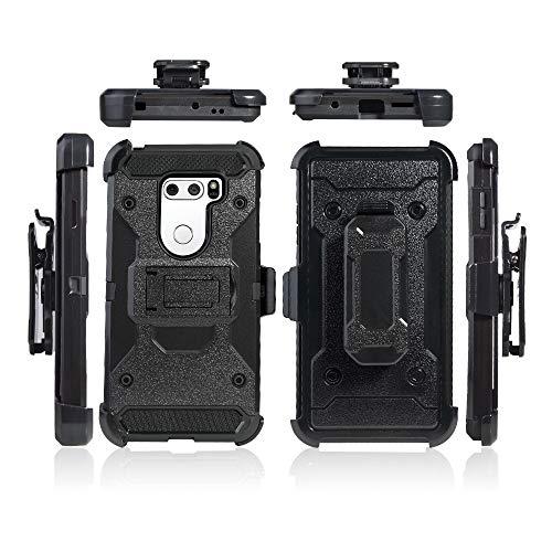 Cocomii Military Belt Clip Holster LG V35/V30/V35+/V30+/V30S Custodia, Sottile Opaco Kickstand Fondina Clip per Cintura Case Bumper Cover Paraurti Compatible with LG V35/V30/V35+/V30+/V30S (Black)