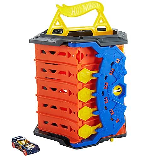 Hot Wheels Action Pista para coches de juguete portátil, incluye 1 vehículo (Mattel HGK41)