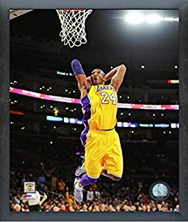 """Kobe Bryant Los Angeles Lakers NBA Action Photo (Size: 9"""" x 11"""") Framed"""