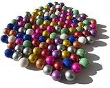 FAIRY TAIL & GLITZER FEE 100 canicas de cristal multicolor, 16 mm, piedras de cristal, para rellenar jarrones, canicas azules, doradas, rojas, verdes, brillantes, decorativas, juego de canicas