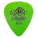 12 Jim Dunlop Tortex Standard Plettri colore verde - Player's Pack Da 12 Plettri 0.88 mm