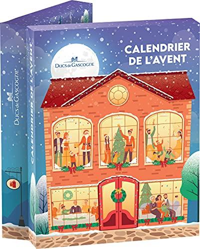 """DUCS DE GASCOGNE - Coffret Gourmand """"Calendrier de l'Avent"""" - Comprend 24 gourmandises sucrées/salées - Spécial Cadeau Noël 2021 (905601)"""