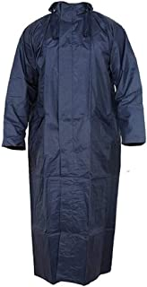 Umravatiya Women Rain Coat Waterproof Long (Navy Blue, Free Size)