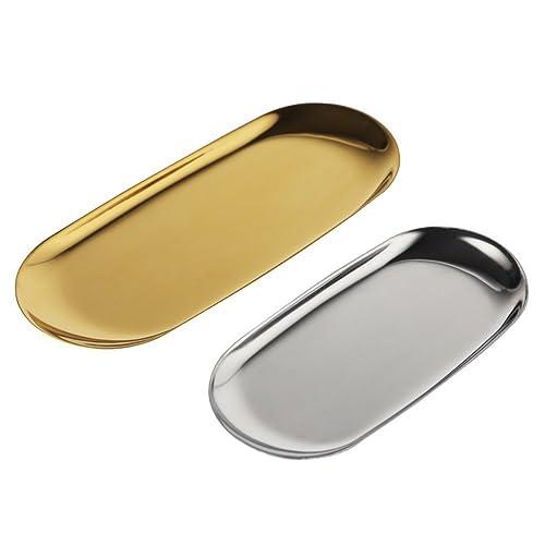Enesco ENEYA HK70033 Tray 3-Tier Gilded Leaf Kit Utensil Gold//Silver