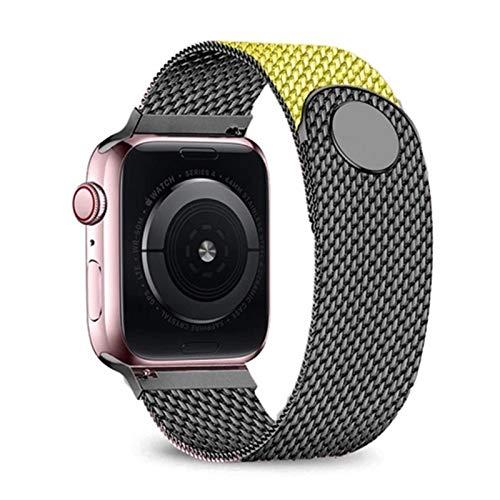 CGGA Correa de Lazo milanesa para Apple Watch 6 Band 44mm 42mm 40mm 38mm Pulsera de Acero Inoxidable Banda de Reloj de Acero Inoxidable para iWatch Series 6 SE 5 4 3 2 Strap de Reloj