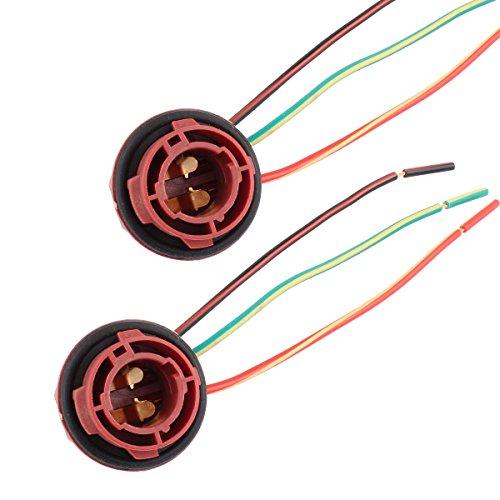 TOMALL 1157 BAY15D Douilles de rechange pour les feux de freinage/d'arrêt/de clignotant/d'arrière (lot de 2)