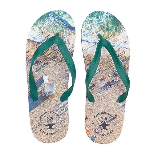Hammer Anvil Men's Flip-Flops Summer Sandals Beach US 11