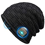 Bluetooth Beanie Gifts for Men and Women, Stocking Stuffers Beanie Hats with Bluetooth Headphones for Outdoor Sports, Running, Skating, Heartwarming fit for Mens Women Mom Girls Wife Black