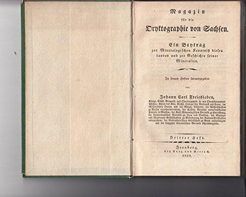Magazin für die Oryktographie von Sachsen.