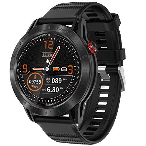 Smartwatch Orologio Fitness con 1.3\'\' Schermo a colori tattile completo Impermeabile 3ATM Fitness Tracker Cardiofrequenzimetro Pressione Sanguigna Monitor Ossigeno Nel Sangue Nuoto per Android e iOS