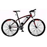 Bicicleta Eléctrica Plegable Adulto Acero de alto carbono Ebikes Bicicletas Todo Terreno extraíble de iones de litio de la montaña E-bici de ciclo al aire libre Trabajar el cuerpo Viaje y los desplaza