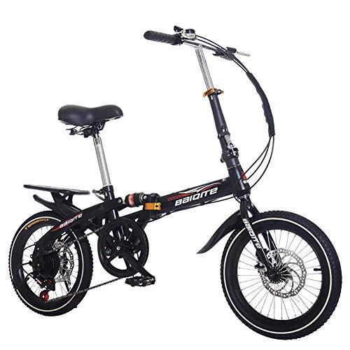 DULPLAY Mini Bicicletta,Bicicletta Pieghevole,Bici da Strada Adulto Uomo Donna Studente Bicicletta,Città Bike Leggero E 14 Pollici