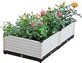 Cajas de jardineras para camas de jardín elevadas para exteriores Cama de jardín elevada Soporte de flores Fruta vegetal elevada Plantación de interiores al aire libre Terraza Balcón Contenedor de res