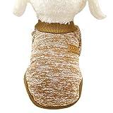 ZEZKT Mascota Perro Cachorro clásico suéter Caliente suéter Universal Invierno Abrigo Casual de Moda Ropa para Mascotas Jersey