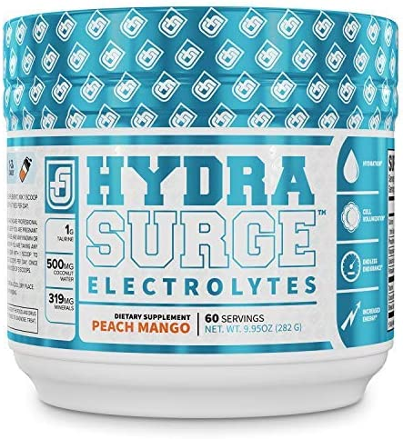 HYDRASURGE Electrolyte Powder Hydration Supplement with Key Minerals Himalayan Sea Salt Coconut product image
