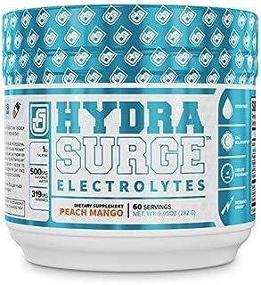 HYDRASURGE Electrolyte Powder - Hydration Supplement with Key Minerals, Himalayan Sea Salt, Coconut Water, More - Keto Fri...