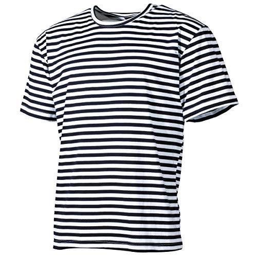 MFH Russisches Marine T-Shirt halbarm (Blau-Weiß) (L)