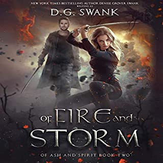 Of Fire and Storm audiobook cover art