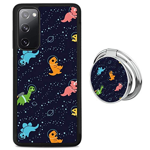 Case for Samsung Galaxy S20 FE 5G with Ring Holder,Dinosaurs in Space Pattern Design, TPU Silicone Slim Fashion Case Cover for Samsung Galaxy S20 FE 5G