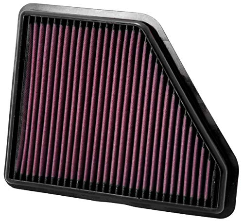 K&N Engine Air Filter: High Performance, Premium, Washable, Replacement Filter: 2010-2017 Chevy/GMC (Equinox, Terrain), 33-2439