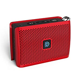 Bluetooth Speaker DOSS Genie Portable Speaker with Clean Sound Built-in Mic Ultra-Portable Design 8 Hours of Playtime Speaker with Strap for Home Outdoors Travel Gift Ideas- Red