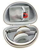 Gold On-Ear Headphone Case for Beats Solo3, Solo2 Wired, Solo HD Wired, Mkay Wireless, Esonstyle, Riwbox XBT-80, iJoy, Edifier W820BT, Sonixx BTX1, Shape & Color Matching