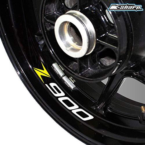 psler Motorrad Reifen Reflektierende Aufkleber Felgenaufkleber für Kawasaki Z900