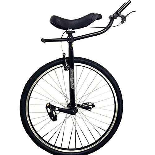 Monociclo Monocicli per Adulti Resistenti per Sport all'Aria Aperta, Bilanciamento delle Ruote da 28'' per Persone Alte, Maschi e Professionisti, Carico 150 kg/ 330 Libbre (Color : Black)