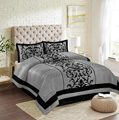 Donn Damask 8-Piece Comforter Set Bed in A Bag - Sheet Set Included!-Bedding Comforter Sets-Bed Set
