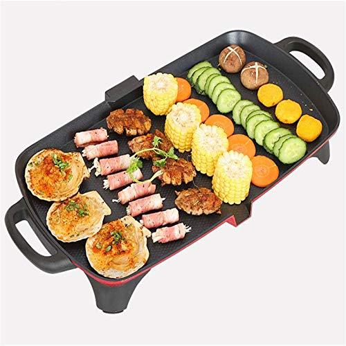 LVYE1 MRMF Plancha De Cocina, Plancha De Asar Grill Eléctrico Parrilla De Cocina Antiadherente 1350W Temperatura Regulable para La Grasa Fácil De Limpiar