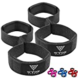 WYOX Figure 8 Weight Lifting Straps for Weightlifting Heavy Duty Deadlifting Workout Straps | Wrist Wraps Gym Equipment Gear Men Women PAIR (Black)