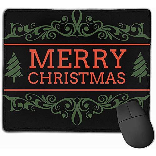Mouse Pad,Frohe Weihnacht-Fahnen-Druck-Spiel-Mausunterlage Personifizierte Rutschfeste Spielauflagen 25X30Cm