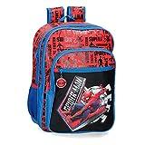 Marvel Spiderman Great Power Mochila Escolar Doble Compartimento Adaptable a Carro Rojo 31x42x13 cms Poliéster 16,93L