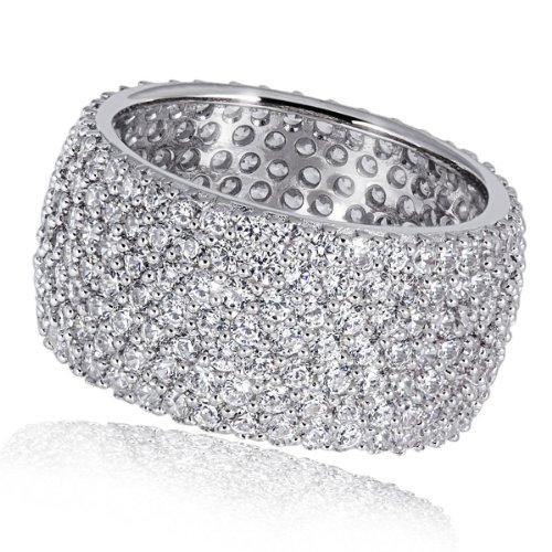 Goldmaid Damen-Ring Silber 925 Pavee 287 klare Zirkonia, Grösse 54