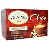 Twinings, Chai, French Vanilla, 20 Tea Bags, 1.41 oz (40 g)( 1 Pack )